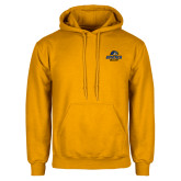 Gold Fleece Hoodie-Goucher College Stacked
