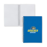 Clear 7 x 10 Spiral Journal Notebook-Goucher Gophers Stacked