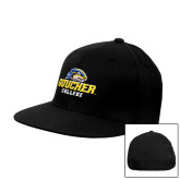 Black OttoFlex Flat Bill Pro Style Hat-Goucher College Stacked