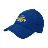 Royal Twill Unstructured Low Profile Hat-Goucher College Stacked