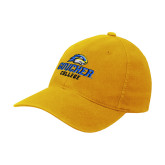 Gold Flexfit Mid Profile Hat-Goucher College Stacked