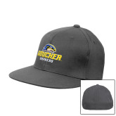 Charcoal Flexfit Flat Bill Pro Style Hat-Goucher Gophers Stacked