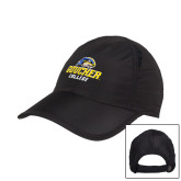 Black Performance Cap-Goucher College Stacked