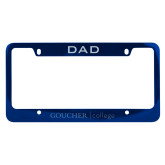 Dad Metal Blue License Plate Frame-College Wordmark Engraved