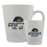 Full Color Latte Mug 12oz-Goucher College Stacked