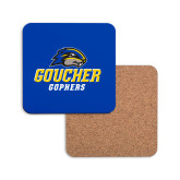 Hardboard Coaster w/Cork Backing-Goucher Gophers Stacked