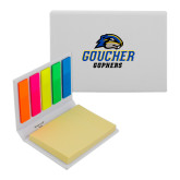 Micro Sticky Book-Goucher Gophers Stacked