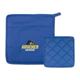 Quilted Canvas Royal Pot Holder-Goucher Gophers Stacked