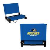 Stadium Chair Royal-Goucher Gophers Stacked