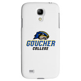 White Samsung Galaxy S4 Cover-Goucher College Stacked