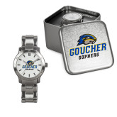 Mens Stainless Steel Fashion Watch-Goucher Gophers Stacked