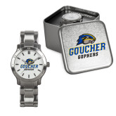 Ladies Stainless Steel Fashion Watch-Goucher Gophers Stacked