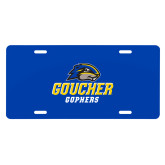 License Plate-Goucher Gophers Stacked