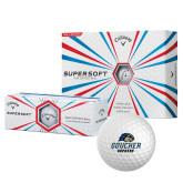 Callaway Supersoft Golf Balls 12/pkg-Goucher Gophers Stacked