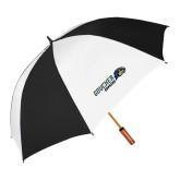 62 Inch Black/White Vented Umbrella-Goucher Gophers Horizontal