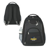 The Ultimate Black Computer Backpack-Goucher Gophers Stacked