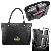 Sophia Checkpoint Friendly Black Compu Tote-Goucher Gophers Stacked
