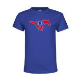 Youth Royal T Shirt-Primary Mark