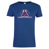 Ladies Royal T Shirt-Runnin Mustangs Basketball