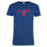 Ladies Royal T Shirt-Distressed Primary Mark