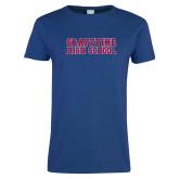 Ladies Royal T Shirt-Grapevine High School Distressed