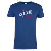 Ladies Royal T Shirt-Curved Grapevine Design