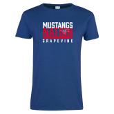 Ladies Royal T Shirt-Mustangs Nation