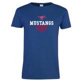 Ladies Royal T Shirt-Basketball Design 2