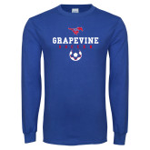 Royal Long Sleeve T Shirt-Soccer Design 1