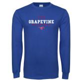 Royal Long Sleeve T Shirt-Volleyball Design 1