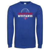 Royal Long Sleeve T Shirt-Volleyball Design 2