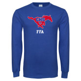Royal Long Sleeve T Shirt-FFA