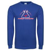 Royal Long Sleeve T Shirt-Runnin Mustangs Basketball