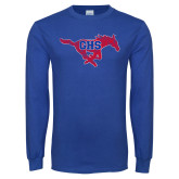 Royal Long Sleeve T Shirt-Distressed Primary Mark