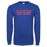 Royal Long Sleeve T Shirt-Grapevine High School Distressed