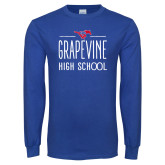 Royal Long Sleeve T Shirt-Stacked Grapevine HS Design