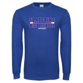 Royal Long Sleeve T Shirt-Tri Color Design