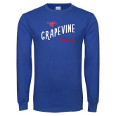 Royal Long Sleeve T Shirt-Curved Grapevine Design