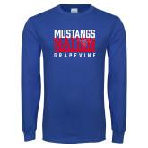 Royal Long Sleeve T Shirt-Mustangs Nation