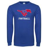 Royal Long Sleeve T Shirt-Football