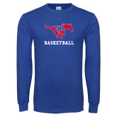 Royal Long Sleeve T Shirt-Basketball
