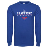 Royal Long Sleeve T Shirt-Basketball Design 1