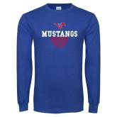 Royal Long Sleeve T Shirt-Basketball Design 2