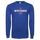 Royal Long Sleeve T Shirt-Basketball Design 3