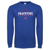 Royal Long Sleeve T Shirt-Baseball Design 1