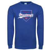 Royal Long Sleeve T Shirt-Baseball Design 2