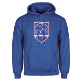 Royal Fleece Hoodie-Soccer Design 2