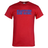 Red T Shirt-Grapevine High School Distressed
