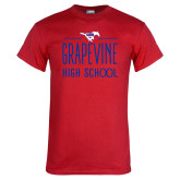 Red T Shirt-Stacked Grapevine HS Design
