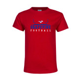 Youth Red T Shirt-Football Field Design